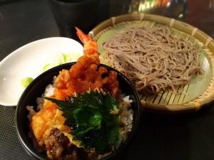 ハーフ天丼と蕎麦